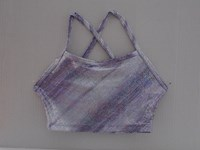 Cropped Top in Lilac foil print