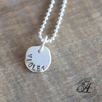 Bespoke Personalised Pebble pendant - large