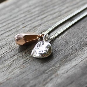 Rough Diamond cluster necklace