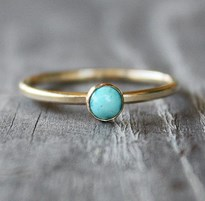 Turquoise gold filled stacker