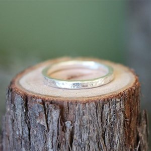 Stacking ring- Beaten texture