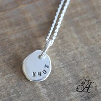 Bespoke Personalised pendant- medium