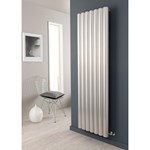 The Radiator Company Reno Vertical Aluminium 75mm Tubular Radiator in black or white finish