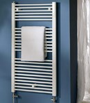 Space White Towel Radiator by MHS - Electric Only Thermostatic POL1