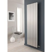 The Radiator Company Reno Vertical Aluminium 75mm Tubular Radiator in an Anodised Finish