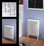 Multisec 3 Column 592mm Height Classic White Multi Column By MHS Radiators