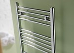 Space Chrome Towel Radiator by MHS Electric Only Thermostatic POL1