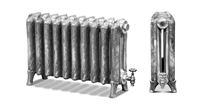 Ribbon 650 2 Column Painted Period Radiator  by Carron Radiators at Jig
