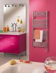 Zehnder Atoll ZSLEC Range of Electric Towel Rail Bathroom Radiators in Chrome