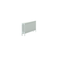 Bisque Classic 4F-30/40 Horizontal Multi Column Floor Radiator in White