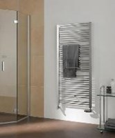The Duett designer ladder style towel radiator by Kermi.
