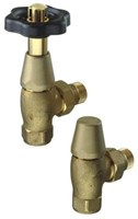 The Radiator Company Traditional Black and Brass TRV Radiator Valve