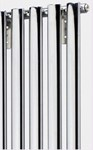 Cheshire Radiators Elton1800mm Height Single Vertical Oval Tube Steel Radiator in chrome