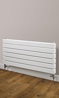 Cheshire Radiators Bretton Double Horizontal Flat Tube Steel Radiator in white