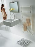 BD 25 Single Towel Radiator in white and colour By The Radiator Company