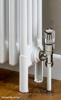 Cheshire Radiators Kingsley 2 Column Vertical Steel Radiator in white