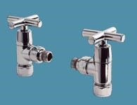 Bisque Angled Manual Valve Set Y in Chrome