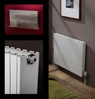 MHS Radiators Zero lightweight aluminium radiator range in white finish