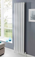 The Radiator Company Seta Groove Vertical Radiator in Chrome