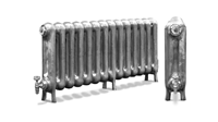 The Princess 610 2 Column Period Radiator in Primer by Carron Radiators at Jig