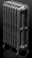 Rococco/Windsor 780 3 Column Period Radiator In Antique/Highlighted By Carron Radiators at Jig
