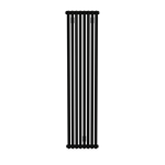 Bisque Tetro 148/178 Vertical Aluminium Radiator with a Black Sable Finish