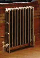 Victorian 660 - 4 Column Period Cast Iron Radiator In Antique/Highlighted By Carron Radiators at Jig