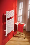 Trim Designer Towel Rail in white By The Radiator Company