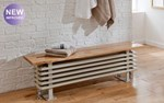 The Radiator Company Ancona Steel Bench Seat in Colour