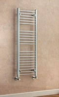 Cheshire Radiators Tarvin 1200mm Height Curved Chrome Cross Tube Towel Rail