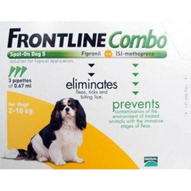 Frontline Combo Small Dogs 4-22 lbs (2-10 kg) - 3 Pipettes