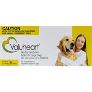 Valuheart Gold Dogs 46-88lbs (21-40kg) - 6 Chewables