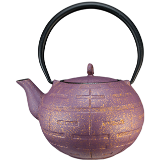 Teapot - Purple Gold