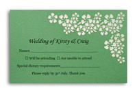 RSVP Card Flowers - Forest Green Lust