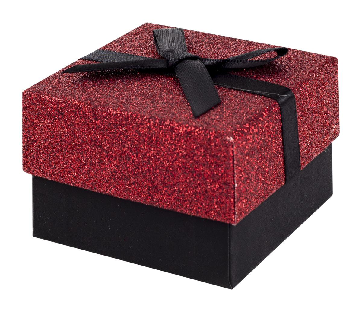 Black and red glitter gift box with black ribbon bow negle Choice Image