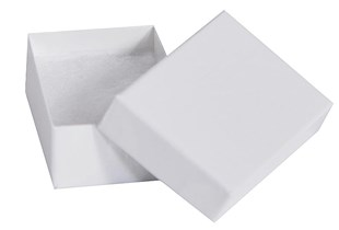 White Gloss small recycled jewellery box - 62 x 42 x 21mm (GLW40/4)
