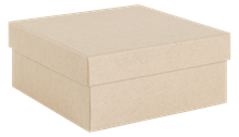 Square mid depth kraft recycled natural gift box 89 x 89 x 38 mm (KR20)