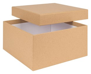 Kraft Natural large Box 200mmx200mmx100mm (MMBN20)