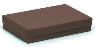 Kraft Chocolate recycled necklace box 138 x 89 x 25mm (KCCH14)