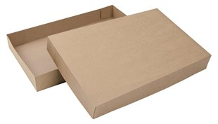 Kraft Natural 2 Piece Flat Packed Gift Box (B2AB3KR)