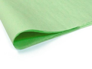 Recycled Pistachio Coloured Tissue Paper - 480 sheets (L)