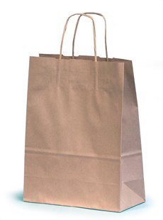 Kraft Paper Gift Bag With Twisted Handles 26 x 13 x 35cm (SBNT026)