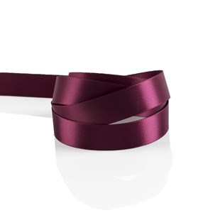 Claret Plum Satin Ribbon 15mm | Double Faced Satin Collection