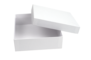 White Linen Square Gift Box (OOWHSQ15)