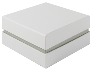 Shoulder Box Collection | Deep Bangle Jewellery Box White & Grey