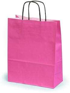 Medium Magenta Gift Bag With Twisted Handles 24 x 11 x 31cm (MAGBPH02)