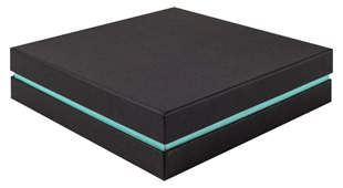Shoulder Box Collection | Choker Jewellery Box Black & Turquoise