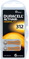 Duracell Activair Mercury Free Hearing Aid Batteries Size 312 (x30 Batteries)