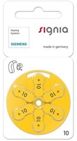 Siemens/Signia Size 10 Mercury Free Hearing aid batteries