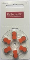 Resound Size 13 Hearing Battery (Orange Tab) Various Pack Size